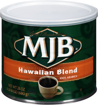 MJB® Hawaiian Blend 100% Arabica Ground Coffee 24 oz. Canister