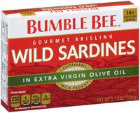 Bumble Bee® Gourmet Brisling Wild Sardines in Extra Virgin Olive Oil 3.75 oz. Box