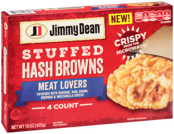 Jimmy Dean® Meat Lovers Stuffed Hash Browns 15 oz. Box