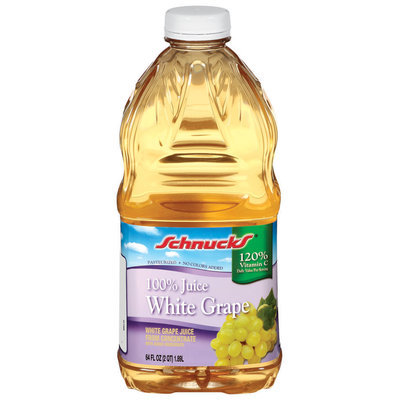 Schnucks White Grape 100% Juice 64 Oz Plastic Bottle