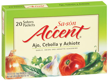 Accent Garlic Onion & Annatto 0.17 Oz Seasoning 20 Ct Box