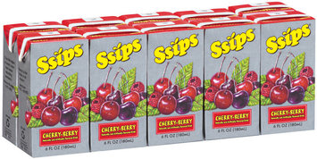 Ssips® Cherry-Berry Drink 10-6 oz Cartons