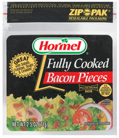 HORMEL Fully Cooked Bacon Pieces 2.5 OZ ZIP PAK
