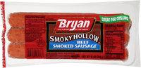 Bryan® Smoky Hollow® Beef Smoked Sausage 12 oz. Pack