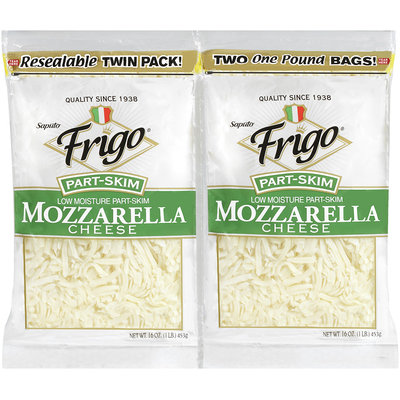 Frigo® Low Moisture Part-Skim Mozzarella Shredded Cheese Twin Pack