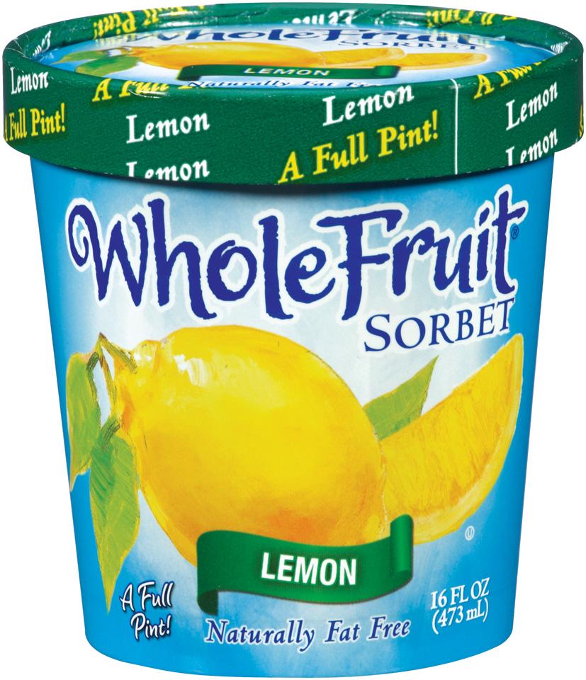 Whole Fruit® Lemon Sorbet 16 oz. Tub