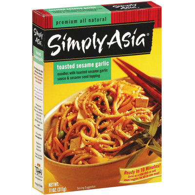 Simply Asia SA Toasted Sesame Garlic Noodle Noodles & Sauce 11 Oz Box