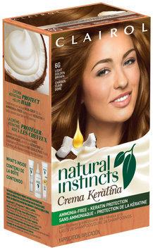 Clairol Natural Instincts Crema Keratina Hair Color Light Chocolate Brown 6BZ Hazelnut Creme 1 Kit