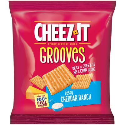 Cheez-It Grooves® Zesty Cheddar Ranch Crispy Cracker Chips 1 oz. Pack