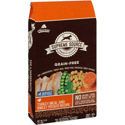 Supreme Source™ Grain-Free Turkey Meal and Sweet Potato Recipe Adult Dog Food 6 lb. Bag
