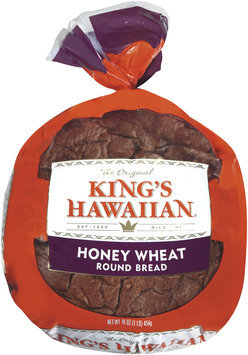 King's Hawaiian® Honey Wheat Round Bread 16 oz. Bag