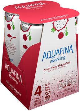 Aquafina™ Sparkling Black Cherry Dragonfruit Sparkling Water Beverage 4-12 fl. oz. Cans