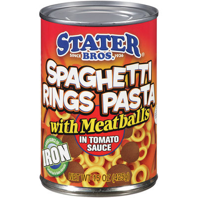 Stater Bros.® Spaghetti Rings Pasta with Meatballs in Tomato Sauce 15 oz