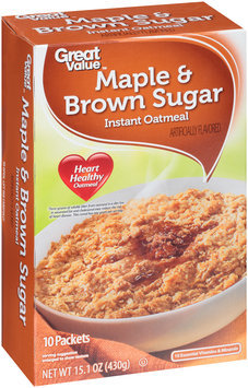 Great Value™ Maple & Brown Sugar Instant Oatmeal 15.1 oz. Box