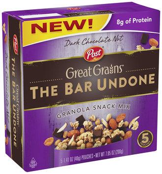 Post® Great Grains® Bar Undone Dark Chocolate Nut Granola Snack Mix