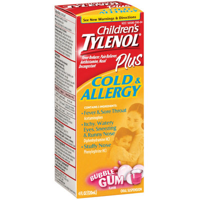 Tylenol® Children's Plus Cold & Allergy Bubblegum Oral Suspension