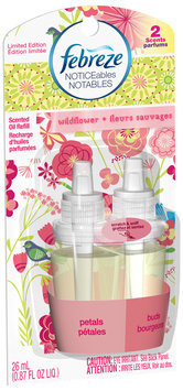 Febreze NOTICEables Wildflower Dual Scented Oil Refill 0.87 fl. oz. Carded Pack