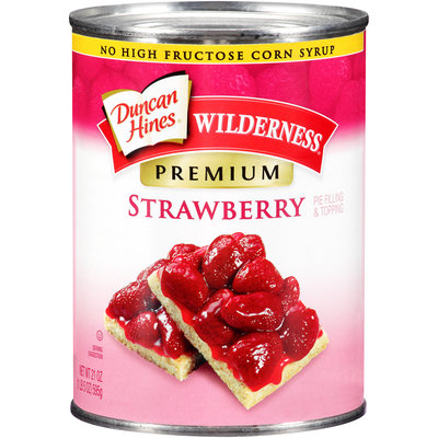 Duncan Hines® Wilderness® Premium Strawberry Pie Filling & Topping 21 oz. Can