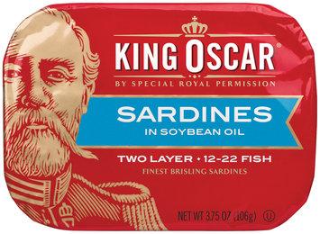 King Oscar® Two Layer Sardines in Soybean Oil 3.75 oz. Tin