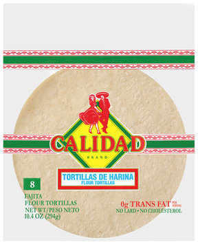 Calidad Flour Tortillas 8 Ct Bag