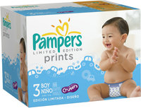 Pampers® Limited Edition Prints Boys Size 3 Diapers 66 ct Box
