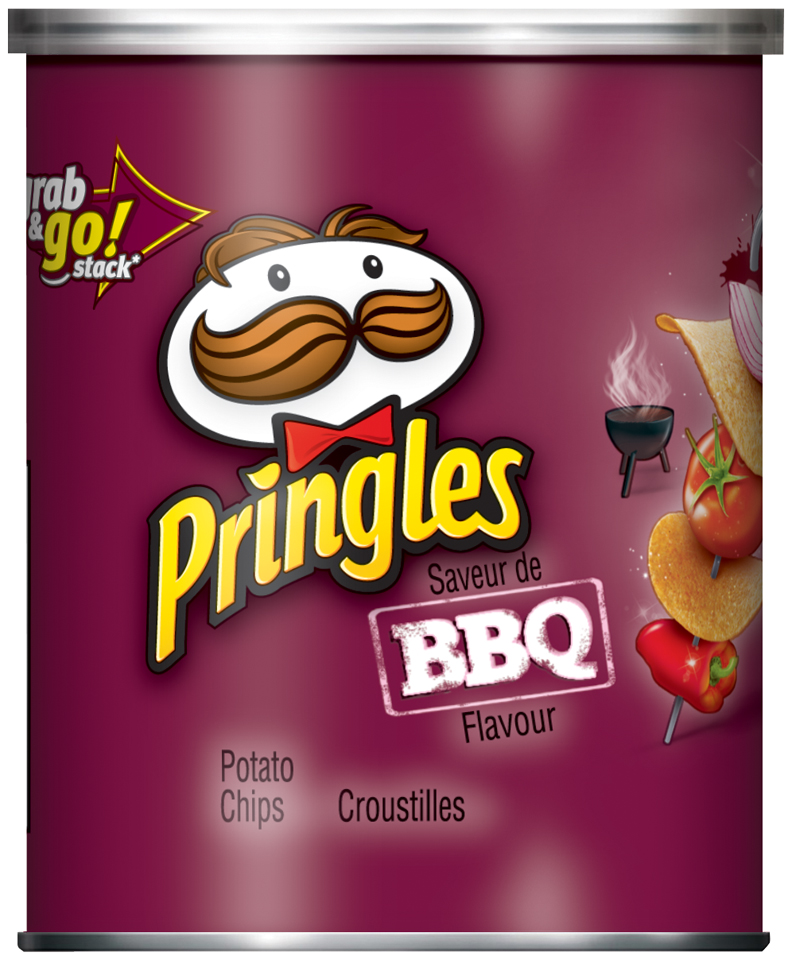 Pringles® BBQ Flavour Potato Chips 39g Canister