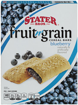 Stater Bros.® Fruit n' Grain Blueberry Cereal Bars 8 ct Box