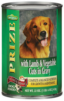 Springfield Prize W/Lamb & Vegetable Cuts In Gravy Dog Food 22 Oz Can