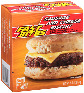 Fast Bites Sausage and Cheese Biscuit 5.3 oz. Box