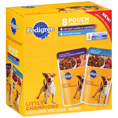 Pedigree® Little Champions® Dog Food Variety Pack 8-5.3 oz. Pouches