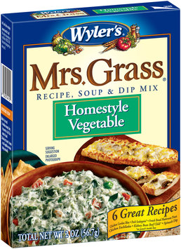 Wyler's® Mrs. Grass® Homestyle Vegetable Recipe, Soup & Dip Mix 2 oz. Box
