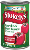 Stokely's Recipe Ready Diced In Tomato Juice Tomatoes 14.5 Oz Can