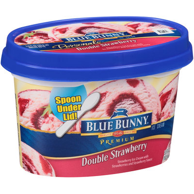 Blue Bunny® Double Strawberry Premium Ice Cream 5.5 fl. oz. Cup