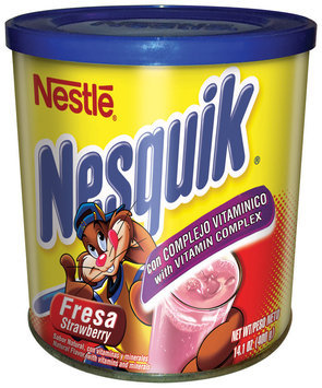 NESQUIK Strawberry Flavored Powder, 12 - 14.1 oz Canisters