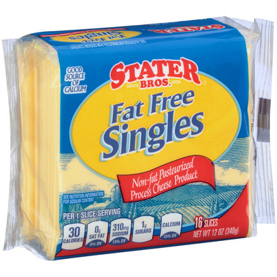 Stater Bros.® Fat Free Singles Cheese 12 oz. Wrapper