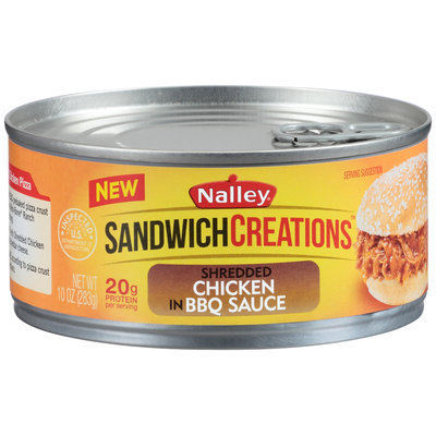 Nalley® Sandwich Creations™ Shredded Chicken in BBQ Sauce 10 oz. Can