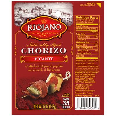 Riojano® Chorizo Picante 5 oz. Package