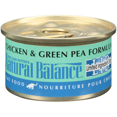 Dick Van Patten's Natural Balance® L.I.D. Limited Ingredient Diets®   Chicken & Green Pea Formula Wet Cat Food 3 oz. Can