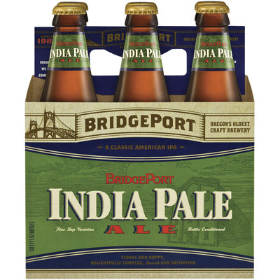 Bridgeport India Pale Ale 12 Oz Beer 6 Pk Glass Bottles
