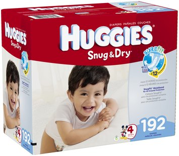 Huggies® Snug & Dry Size 4 Diapers 192 ct Box
