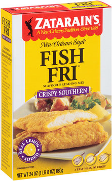 Zatarain's® Fish-Fri® Crispy Southern Seafood Breading Mix 24 oz. Box