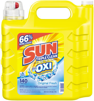 Sun® Triple Clean Plus Power of Oxi Original Fresh Liquid Laundry Detergent 250 fl. oz. Jug