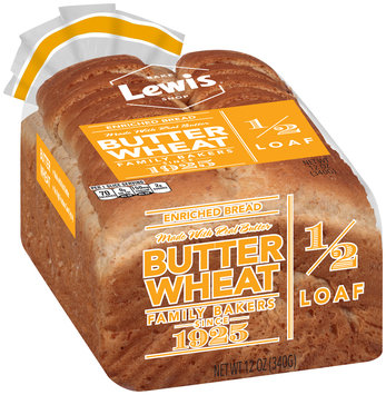 Lewis® Butter Wheat Enriched Bread 12 oz. Pack