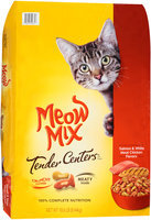Meow Mix Tender Centers Salmon & White Meat Chicken Flavors Dry Cat Food, 18.6-Pound