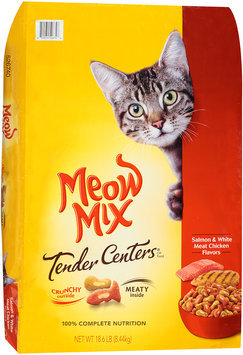 Meow Mix Tender Centers Salmon & White Meat Chicken Flavors Dry Cat Food