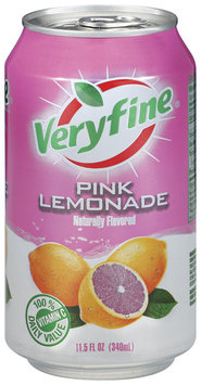Veryfine Pink Lemonade 11.5 Oz Pull-Top Can
