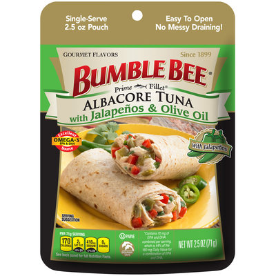 Bumble Bee® Albacore Tuna with Jalapenos & Olive Oil 2.5 oz. Pouch