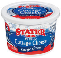 Stater Bros. Large Curd Cottage Cheese 16 Oz Tub
