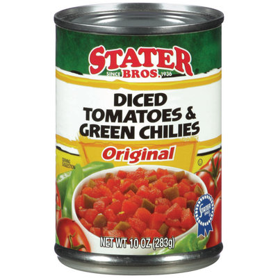 Stater Bros.® Original Diced Tomatoes & Green Chiles 10 oz Can