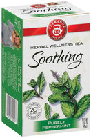 Teekanne Soothing Purely Peppermint Caffeine Free 1.41 Oz Tea Bags 20 Ct Box